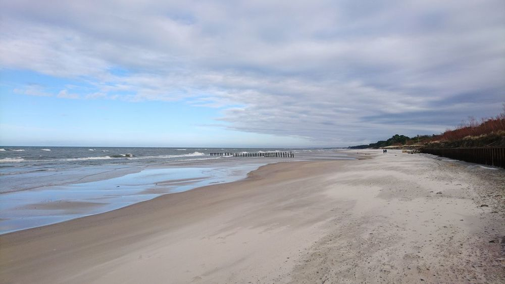 Sand Beach Sea Outdoors Dramatic Sky Horizon Over Water Cloud - Sky Landscape Water Nature Beauty In Nature Sand Dune Sky Day Beach Baltic Baltic Sea Winter