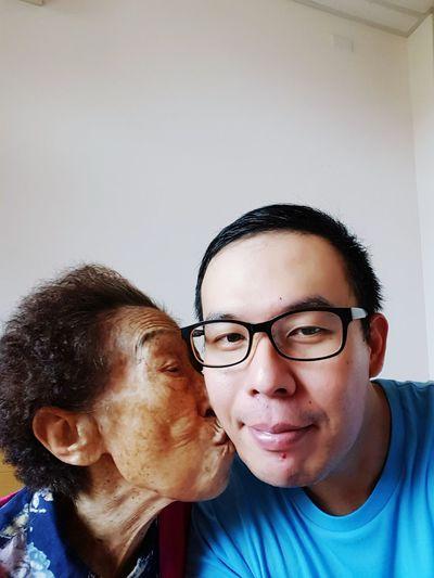 Myself Grandma Grandmother Grandma And Grandson My GrandMa And Me Alzheimer Oldwoman Elderly Family Family❤