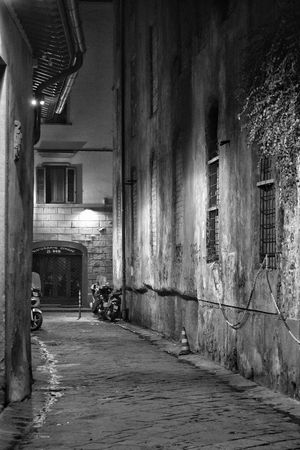 Florence Street By Night Built Structure Architecture No People Street Photography Florence Italy Florence The Best City In The World Monochrome Black And White Shadows Shadows & Light City Travel Contrast Casting A Shadow Outdoors Night Building Exterior Window Shadow Winter Street Mystery Ethereal Mysterious Place