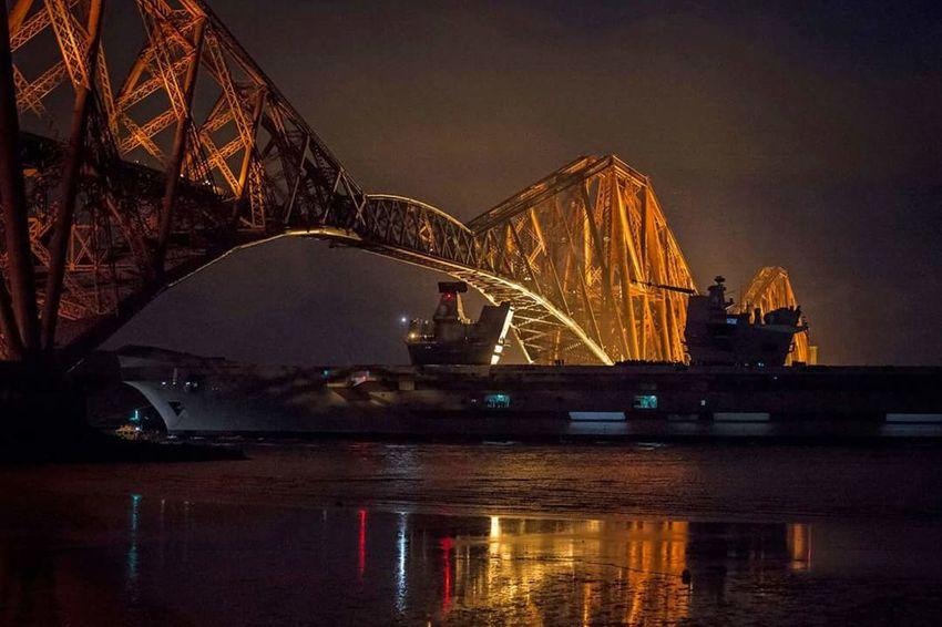 ForthRailBridge Aircraftcarrier @QECII Royalnavy Firthoftheforth Scotland