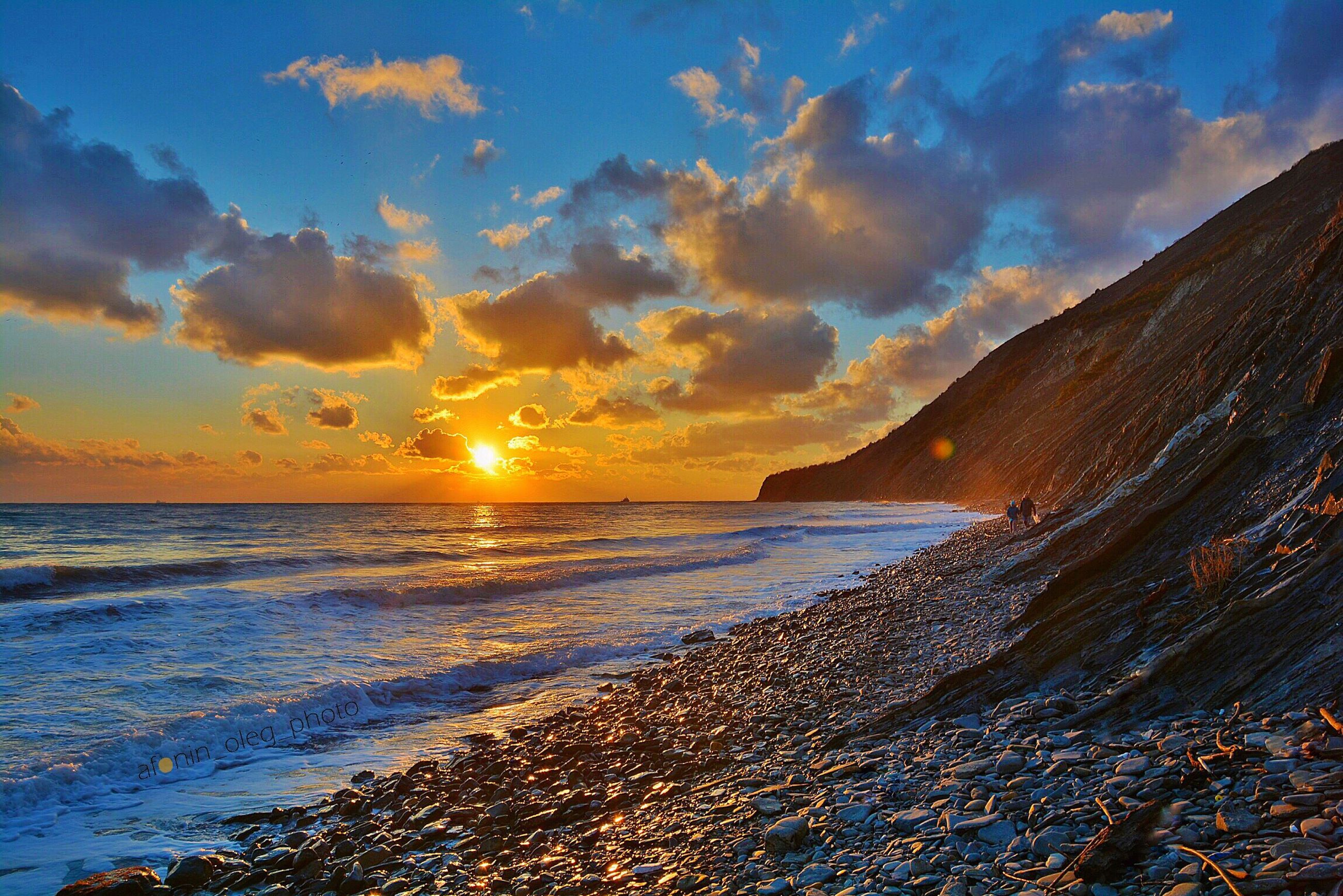 sea, sunset, beach, nature, scenics, sky, outdoors, landscape, sun, beauty in nature, no people, cloud - sky, water, horizon over water