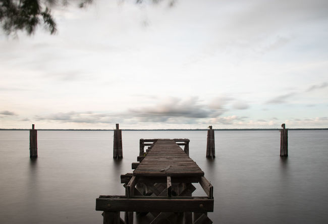 Beauty In Nature Day Dock Florida Life Florida Sunset Jetty Lake Monroe Nature No People Old Wooden Dock Outdoors Pier Sanford Scenics Sea Sky Tranquil Scene Tranquility Water