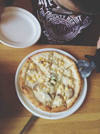 Pizza Food Akiphoto IPhoneography Taking Photos 四つに切ってと言いました😂✋🏻✨🎵