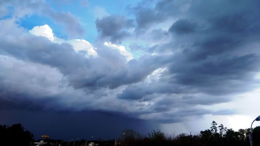 Preapring to shower rains Beauty In Nature Blue Cloud Cloud - Sky Clouds And Sky Cloudscape Cloudy Dramatic Sky Growth High Section Idyllic Low Angle View Moody Sky Nature No People Outdoors Overcast Scenics Sky Storm Cloud Tranquil Scene Tranquility Weather
