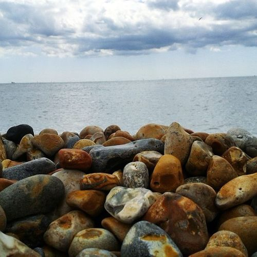 Brightonbeach Brighton Colorfull Stones Horizon Sea Sky Blue Beach Beautiful Love Water Clouds Instabest Instamoments