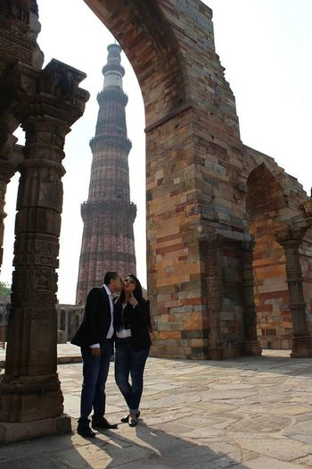 Architecture Couple Coupleshoot Delhi Delhidiaries Destinationphotography History Love Mughalarchitecture Old Ruin Prewedding Qutabminar Romantic Two People Women