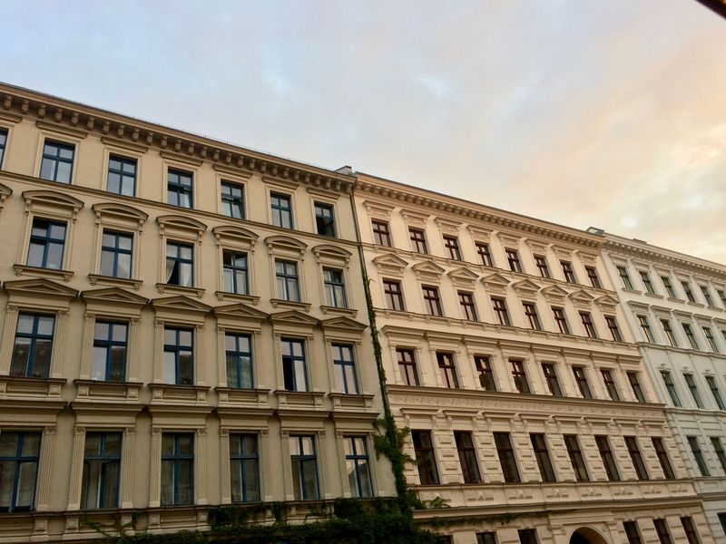 19th Century Architecture In Berlin 19th Century Buildings Bergmann Kiez Berlin Berlin Architecture Building Exterior City Façade History In A Row Low Angle View No People Repetition Residential District The Past Window