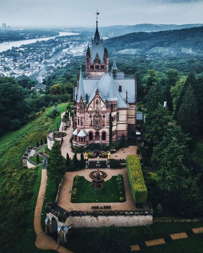 Germany turns green again. Travel Germany Architecture Built Structure Building Exterior Water Building Religion Spirituality Place Of Worship Belief Nature Plant No People Travel Destinations Day Outdoors Tree Sky Travel Ornate