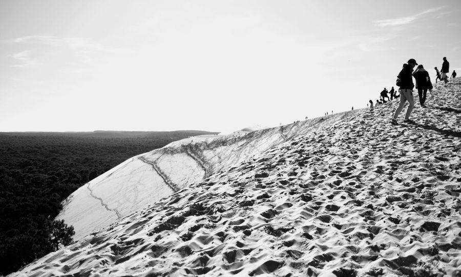 Real People Dune Du Pyla Walking Oceanside Photography Black & White