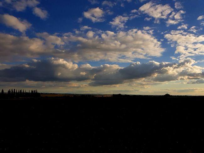 Big skies Sunset Silhouette Dramatic Sky Rural Scene Sky Landscape Cloud - Sky