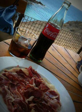 Mealtime Lanzarote SPAIN Tapas Serrano Holiday POV
