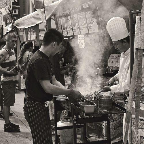 Street food, Taiwan Festival, Vancouver... Streetphotography Urbanphoto Black And White Monochrome