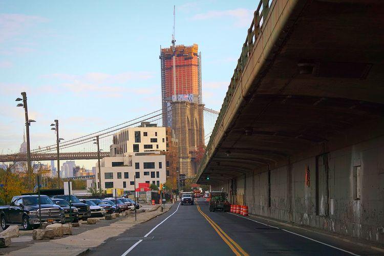 Streetphotography Brooklyn Bridge Park Conservancy BQE FurmanStreet Early Morning Sky Cityscape