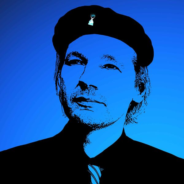 Ché Assange :D Assange Blue Che Headshot One Person People Real People Silhouette Warhol Inspired Wikileaks