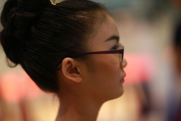 Close-Up Of Girl Looking Away