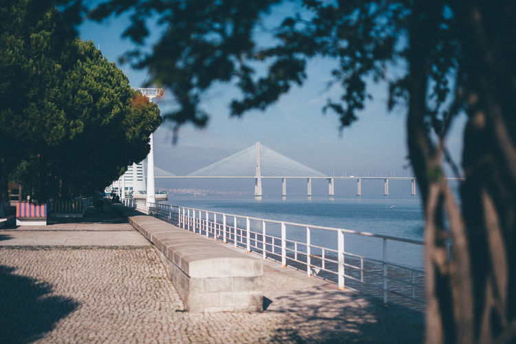 Architecture Bokeh Bridge - Man Made Structure City City Life Day Foggy Lisboa Lisbon No People Oriente Relaxation Sea Urban Landscape Vacation Vasco Da Gama Bridge Warm Water