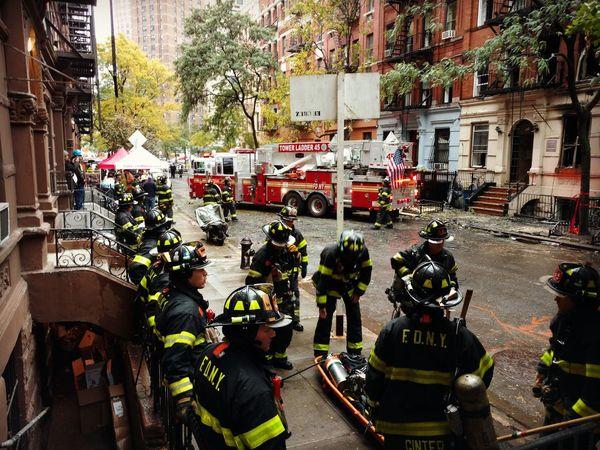 Firemen At Work New York City