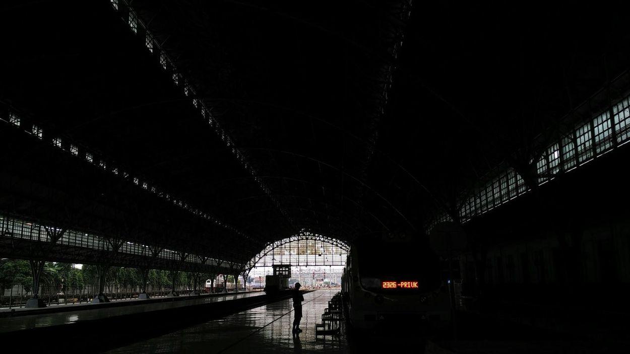 Inside of Tanjung Priok Railway Station, Jakarta 2017 Railway Station Railway Station Platform Railway Stations Railway Station Scene Train Station Train Station Platform INDONESIA Jakarta Tanjung Priok Tanjung Priok Railway Station Rail Transportation Mode Of Transportation Public Transportation Transportation Architecture Center Station Kai
