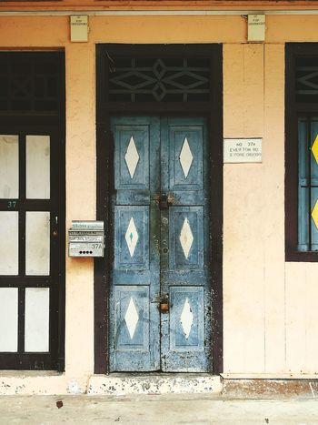 Door Built Structure Architecture Building Exterior Entrance Shophouse No People Letter Box Letterbox