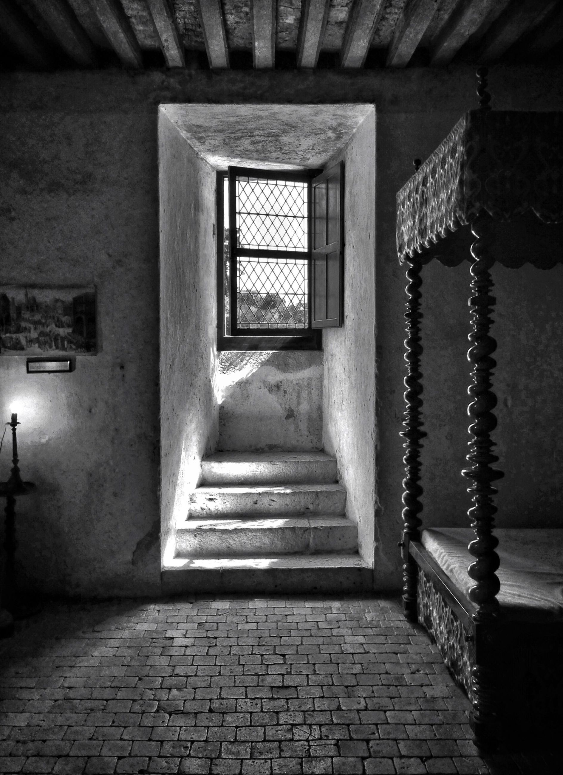 the way forward, architecture, built structure, empty, door, indoors, entrance, narrow, absence, corridor, wall - building feature, walkway, diminishing perspective, building exterior, steps, illuminated, no people, cobblestone, doorway, house