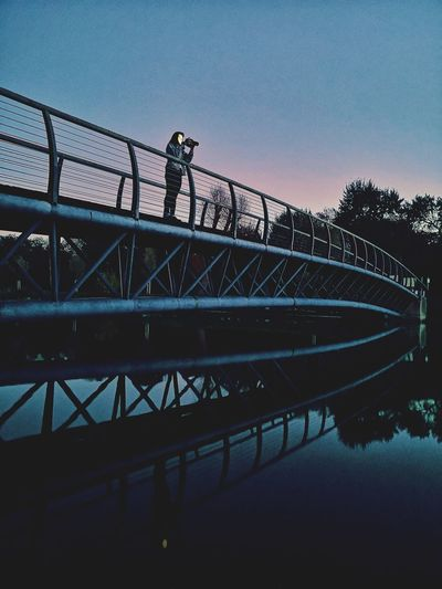 Golf Club Water Bridge - Man Made Structure Silhouette Rollercoaster Clear Sky Sky Built Structure Architecture