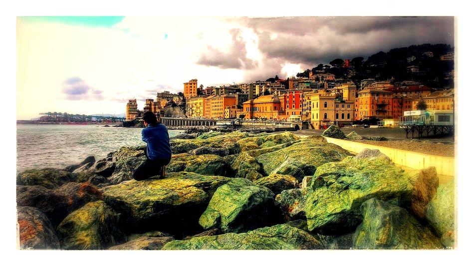 Modern Workplace Culture Liguria Seaside Searocks Sea And Sky Genova Makingphotos Street Photography Young Photographer Girl Photographer Lungomare Pegli Pegli City And Nature Citycolours Auto Post Production Filter Double Exposure Coast Silhouette