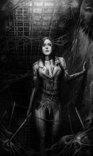 Females Night Black & White Gamers PSone Silent Hill Netflixnight XboxOne Spotify