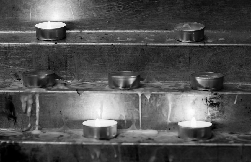 © www.rodiphotography.com Candele Candle Candlelight Church Churches Offer Sacrifice Religion Religious  Religion And Beliefs Blackandwhite Black And White Illuminated Flame Heat - Temperature Domestic Room Burning Shelf Candle Close-up Utensil Candlestick Holder Fire Candlelight Darkroom