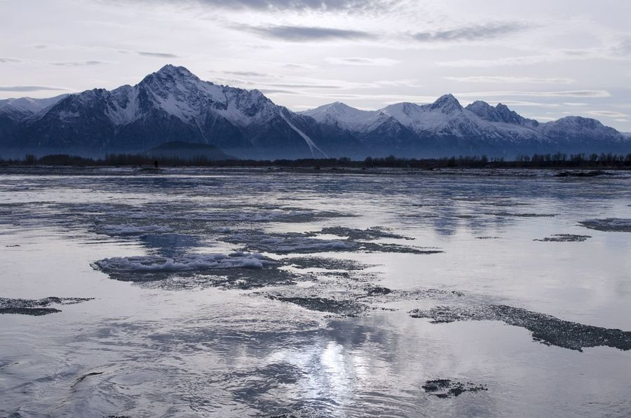 Alaska Alaska Beauty In Nature Cold Temperature Day Ice Landscape Landscape_photography Matanuska Glacier Alaska Mountain Mountain Range Nature No People Outdoors River Scenics Sky Snow Tranquil Scene Tranquility United States Water