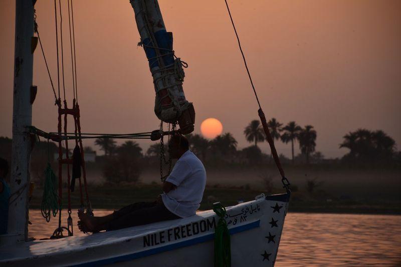 The Great Outdoors - 2017 EyeEm Awards Rivernile Egypt Dusk. Evening Photography River Boat Nature