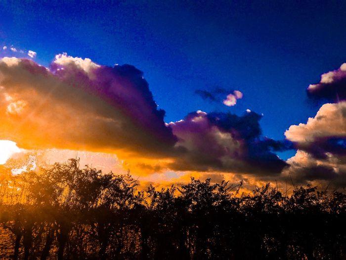 Sunset. Cloud - Sky Beauty In Nature Scenics Nature Sunset No People Outdoors Tranquil Scene Multi Colored Day Bush Dramatic Sunset Sunset Silhouettes Sunset_collection This Week On Eyeem EyeEmNewHere Popular EyeEm Masterclass EyeEm Team EyeEmBestPics EyeEm Best Shots EyeEm Gallery Eyeem Photography Cloudscape Atmospheric Mood