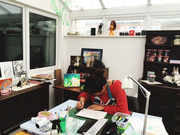 Artist at work...