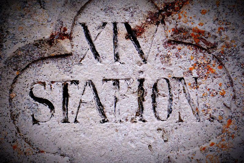 Station Altmuehltal Dietfurt Home XIV Kreuzweg Text Communication No People Day Close-up