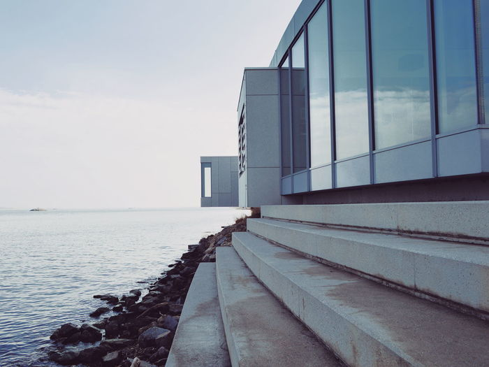 Architecture_collection Architectural Feature Built Structure Modern Architecture Point Of View River Riverside Water Beach Sky Architecture Horizon Over Water Built Structure Pebble Beach Pebble Shore vanishing point The Way Forward Calm My Best Photo