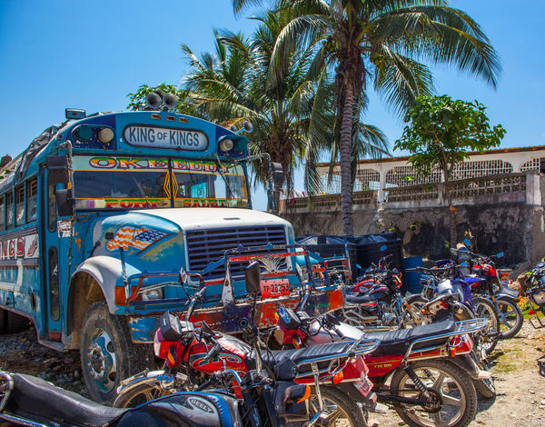 School Bus Motorcycles Old Buildings Hanging Out Dirty Build Haitian Poverty Haiti Haitian Beauty Old Motorbike Vacations Poverty Lives.