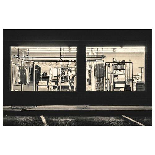 Nightwalk in ATx Closed Drycleaners window windowporn NoFilter blackandwhite TheNettedPigeon parkinglot