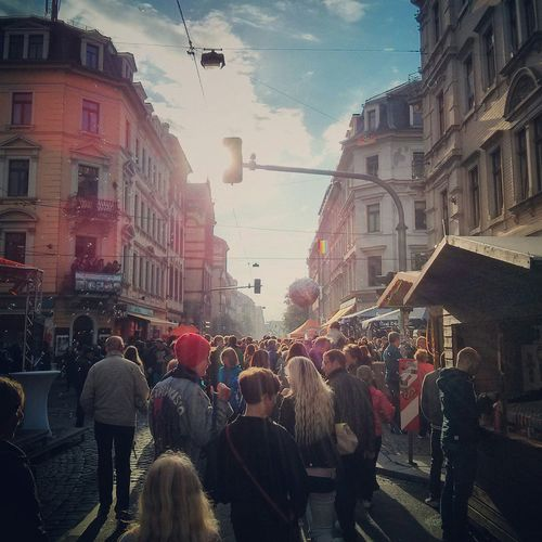 Brn BRN15 Dresden Neustadt Festival Sun Music Crowd Bubbles Street