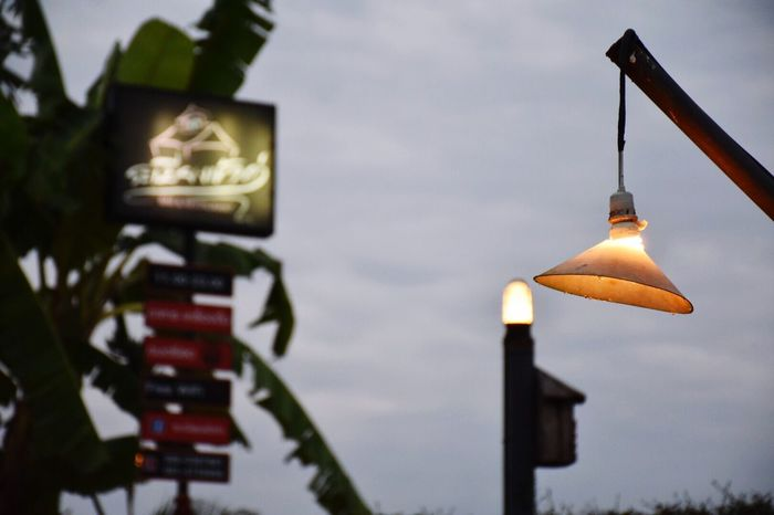 Lamp in the restaurant. Low Angle View No People Sky Outdoors Day Nature
