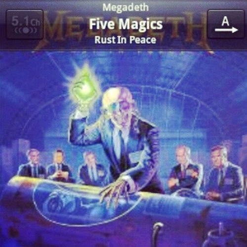 Ouvindo Megadeth Fivemagics Rustinpeace