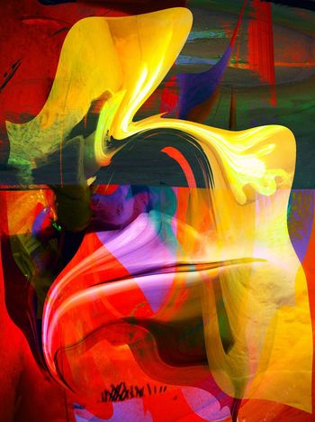 luid border - i wanted to create something universal about things that are not straight, obvious Abstract Abstractart Surrealism Modern Digital Art Art Artist