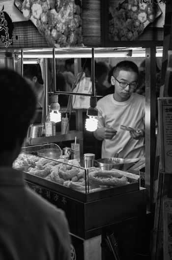 People at shilin night market