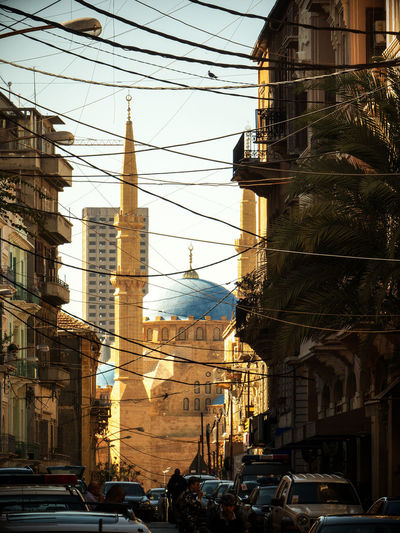 Gemmayzeh - Beirut Beirut City Lebanon Liban Mohammad Al-Amin Mosque, Beirut Architecture Beyrouth Building Cable Car City Day Dome Electricity  Islam Middle Minaret Monument Mosque Outdoors Residential District Sky Street Urban Wire