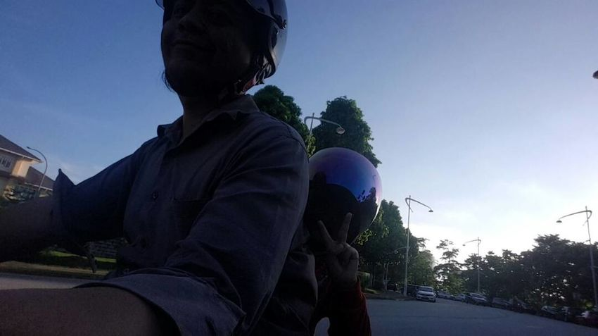 Men Only Putrajaya Malaysia Riding Two Wheels Dad And Son