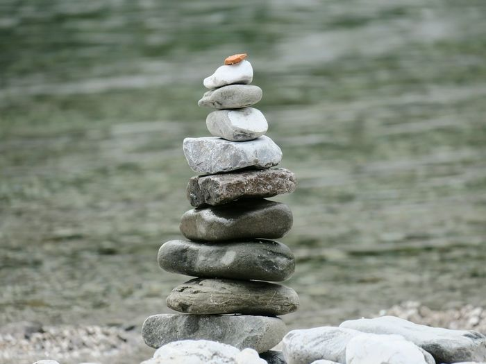 Stack Balance Stability Focus On Foreground Nature Day Arrangement No People Pebble Outdoors Beauty In Nature Summertime Rocks Swimming Slovenia Bathing Nadiža Idyllic Riverbank Colors Of Nature The Week On EyeEm Riverscape Summer Beach Close-up Mix Yourself A Good Time