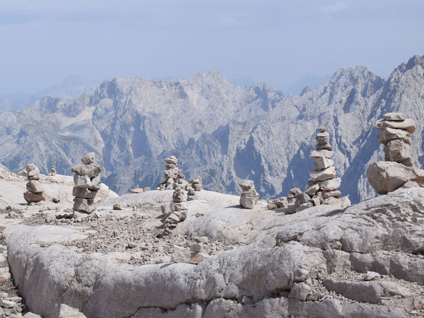 Alpen Gebirge Rock Formation Shades Of Winter Zugspitze Artalpine Blue Sky Day Grau Mountain Nature No People Outdoors Sky Steine