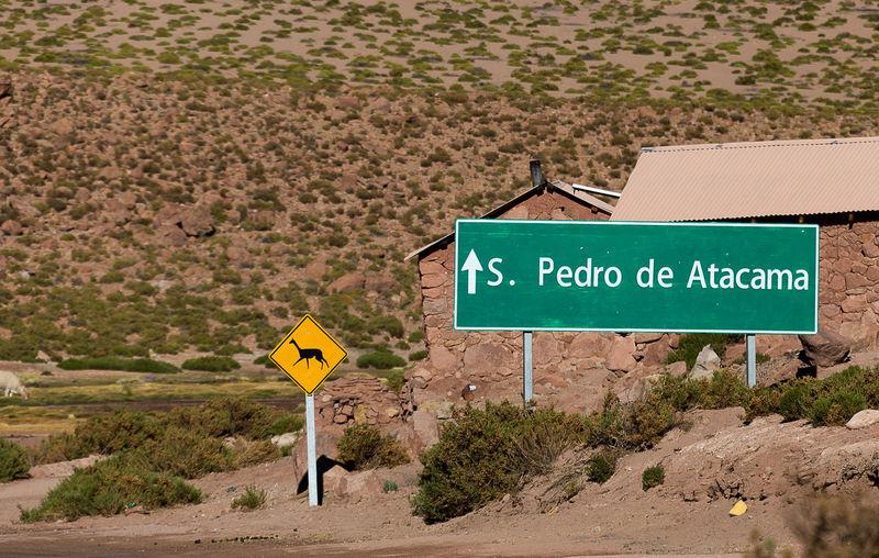 Road Sign In Desert