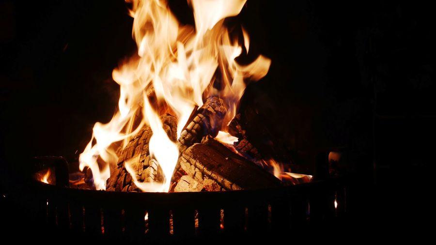 Flame Heat - Temperature Burning Night No People Outdoors Bonfire