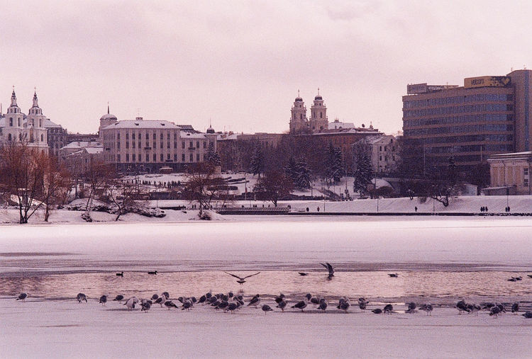 Просроченная пленка (overdue film) Minsk,Belarus Winter Architecture Built Structure City Film Photography Filmisnotdead Fuji200 Outdoors Sky