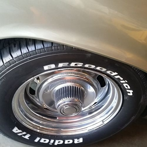 New Radials Tires for althea '70 Elcamino elco stroker chevy chevrolet