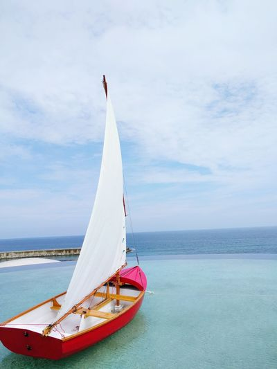 Water Boat Horizon Over Water Sky Sailboat Travel Vacations Beauty In Nature